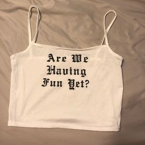 Are we having fun yet Crop Top